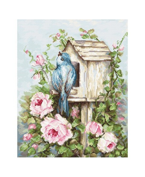 Bird House & Roses SB2352