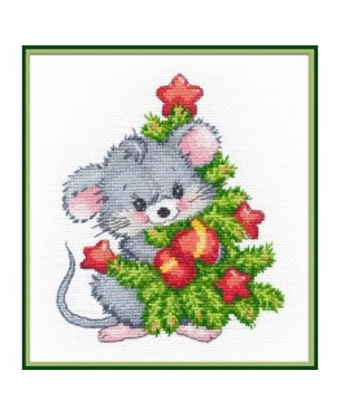 Mouse with Christmas tree...