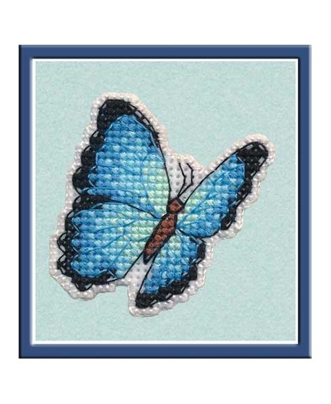 Badge Blue Morpho S1172